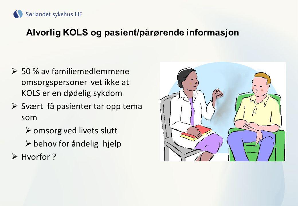 Alvorlig KOLS og pasient/pårørende informasjon