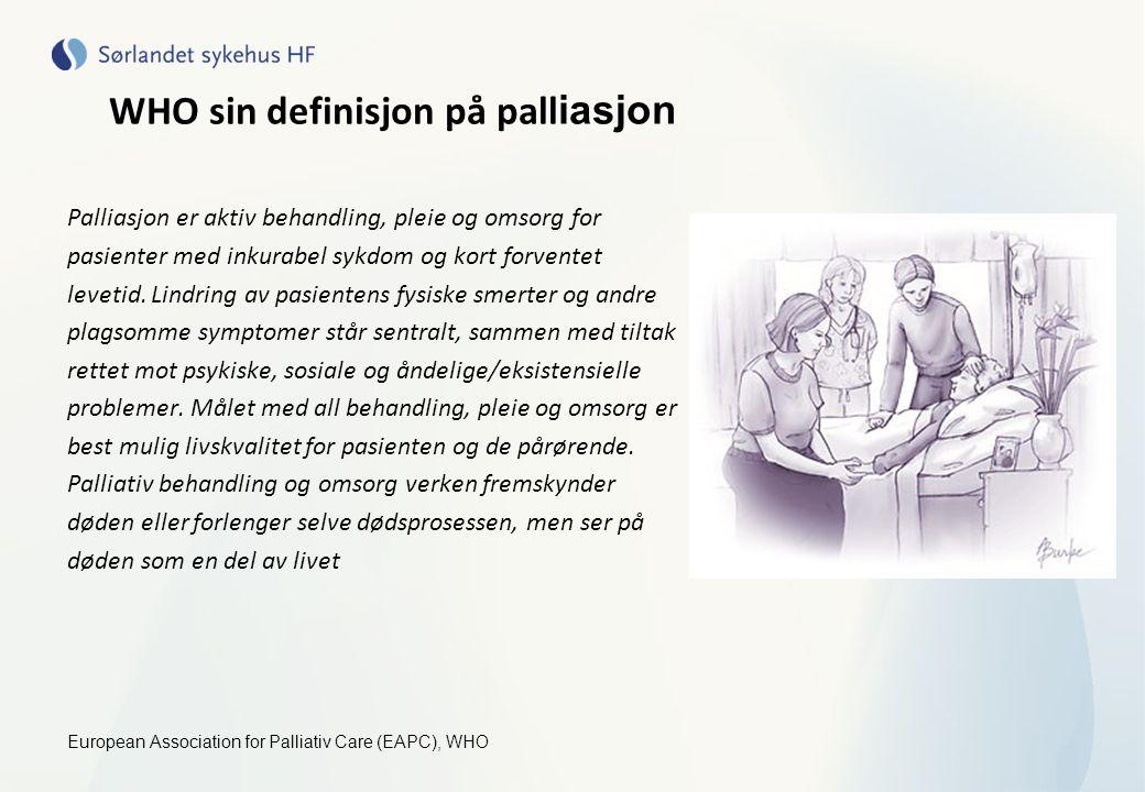 WHO sin definisjon på palliasjon