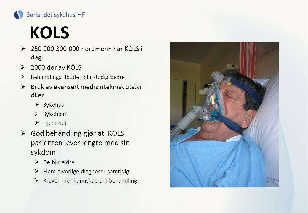 KOLS God behandling gjør at KOLS pasienten lever lengre med sin sykdom