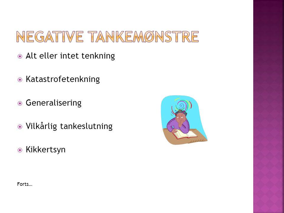 Negative Tankemønstre