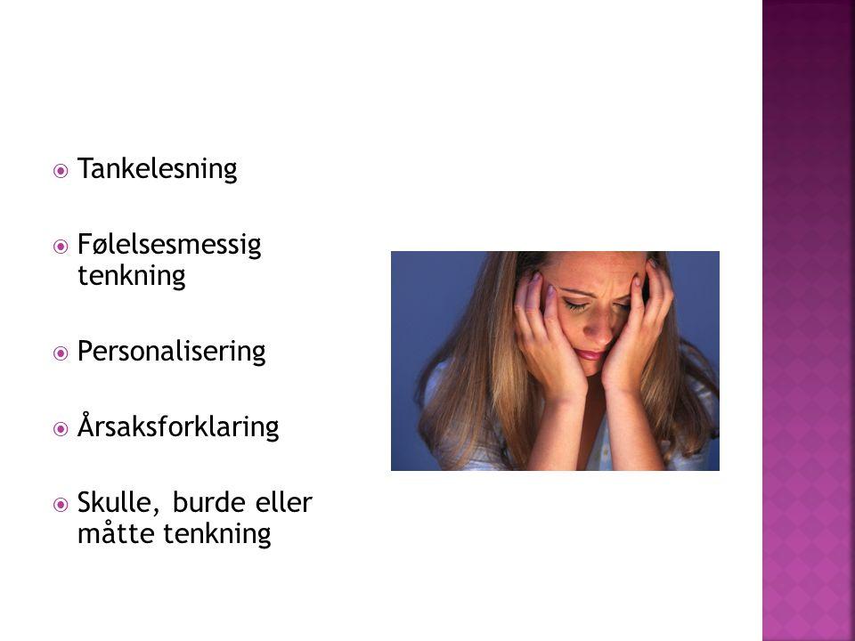 Tankelesning Følelsesmessig tenkning. Personalisering.