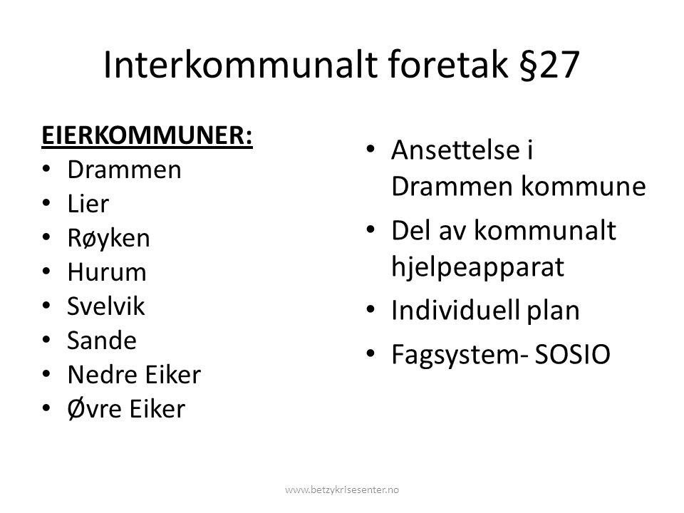 Interkommunalt foretak §27