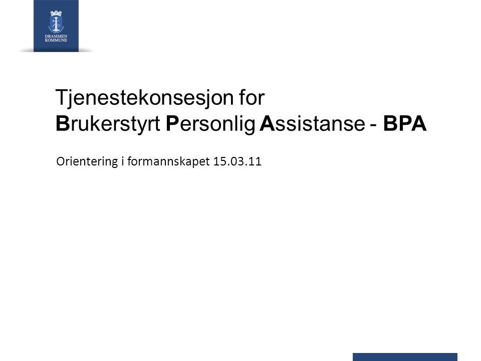 Tjenestekonsesjon for Brukerstyrt Personlig Assistanse - BPA