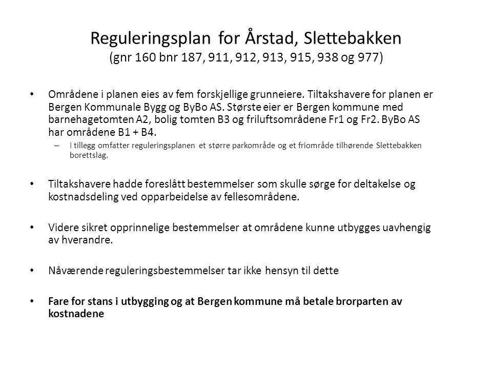 Reguleringsplan for Årstad, Slettebakken (gnr 160 bnr 187, 911, 912, 913, 915, 938 og 977)