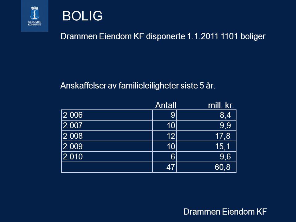 BOLIG Drammen Eiendom KF disponerte 1.1.2011 1101 boliger