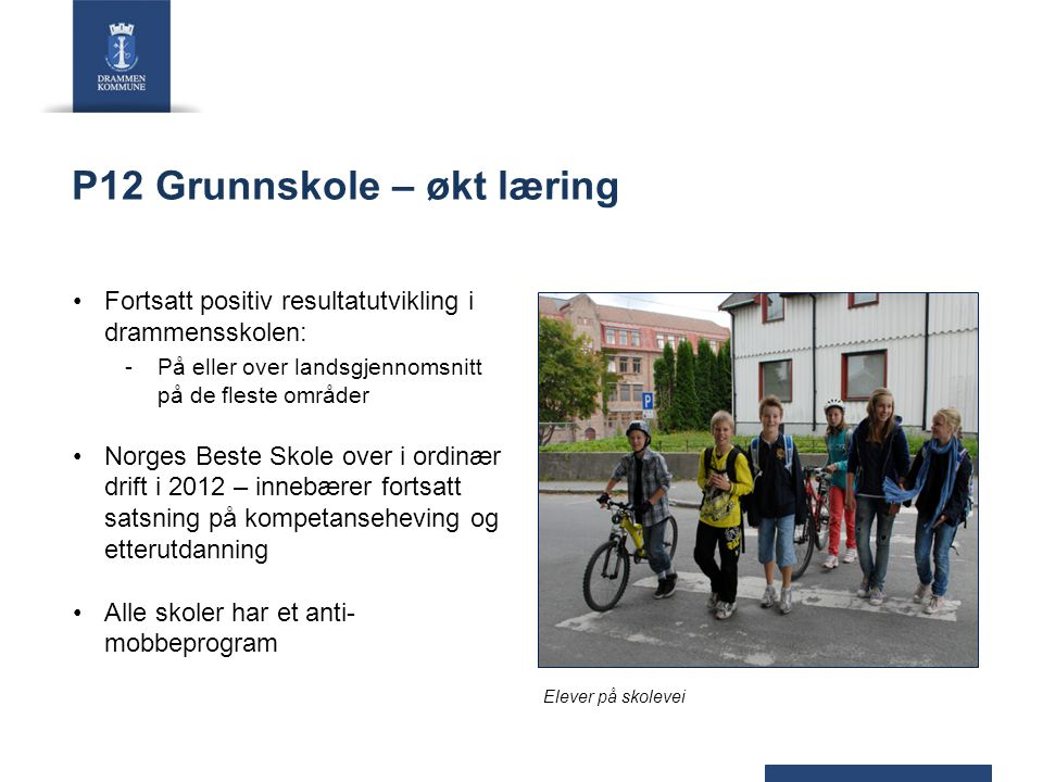 P12 Grunnskole – økt læring