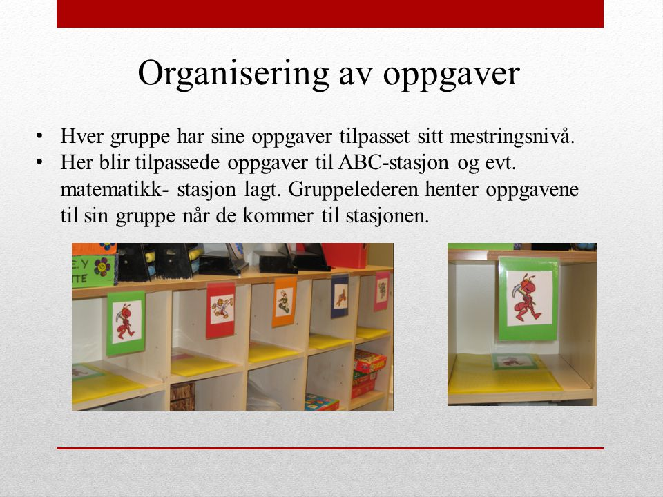 Organisering av oppgaver