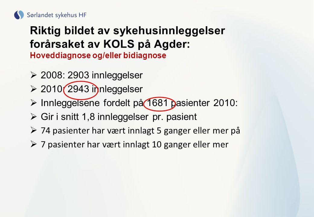 Riktig bildet av sykehusinnleggelser forårsaket av KOLS på Agder: Hoveddiagnose og/eller bidiagnose