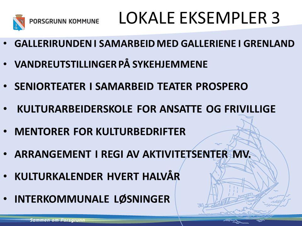 LOKALE EKSEMPLER 3 SENIORTEATER I SAMARBEID TEATER PROSPERO