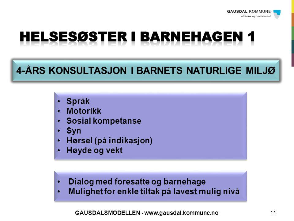 HELSESØSTER I BARNEHAGEN 1