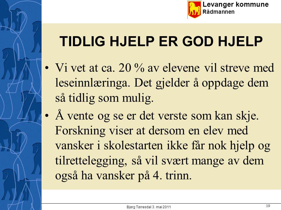 TIDLIG HJELP ER GOD HJELP