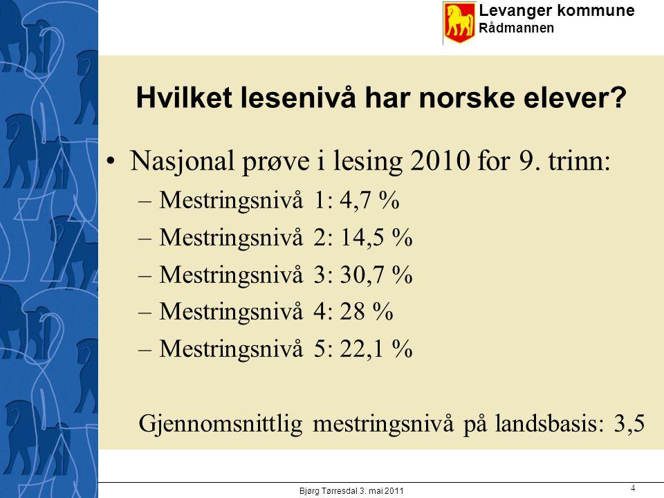 Hvilket lesenivå har norske elever