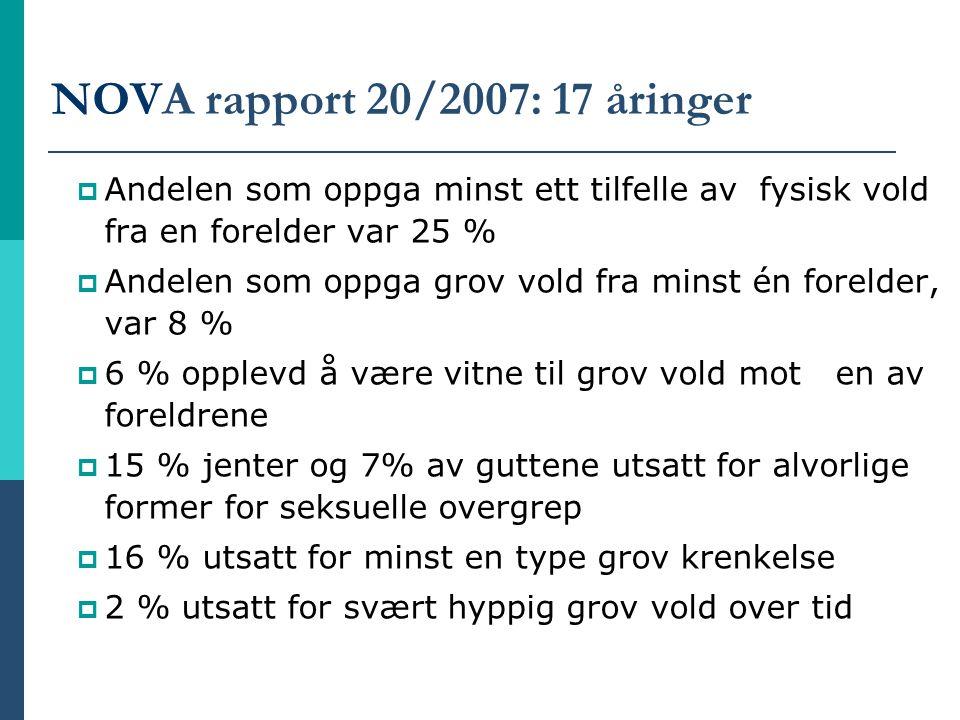 NOVA rapport 20/2007: 17 åringer