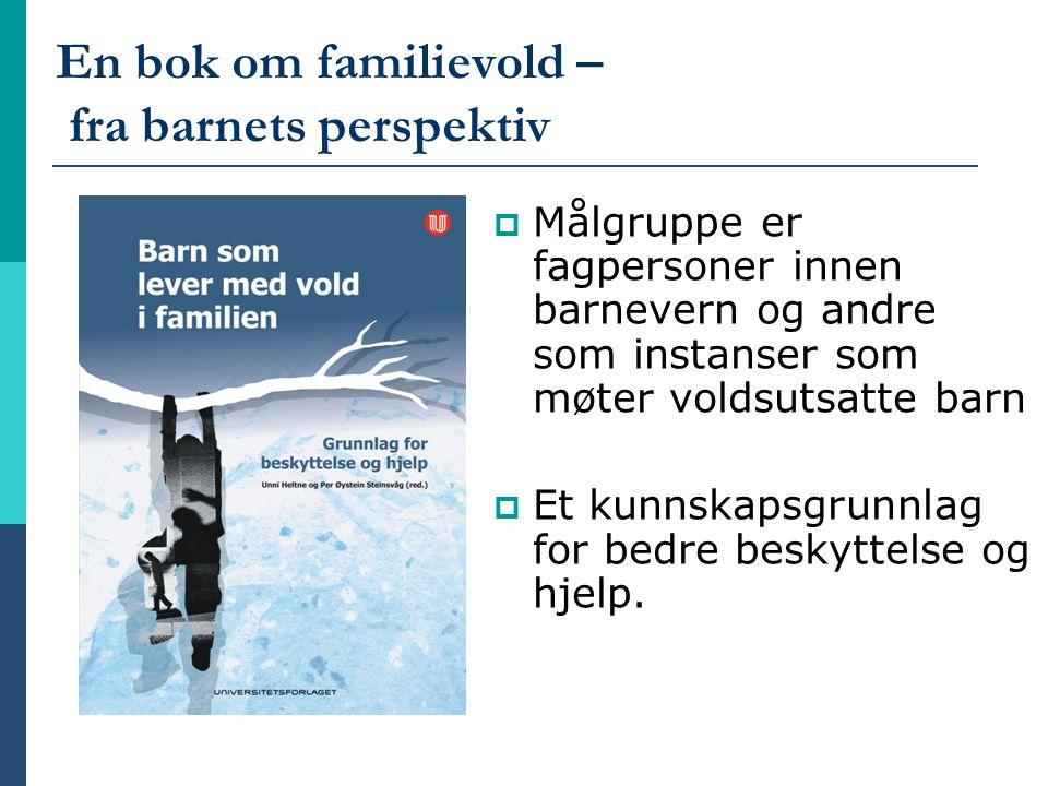 En bok om familievold – fra barnets perspektiv