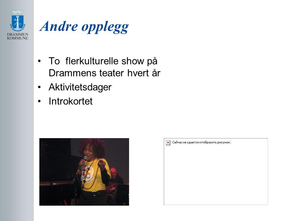 Andre opplegg To flerkulturelle show på Drammens teater hvert år
