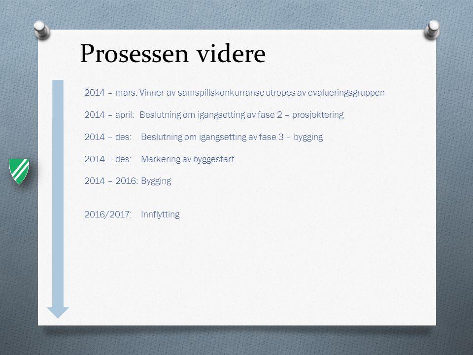 Prosessen videre 2014 – mars: Vinner av samspillskonkurranse utropes av evalueringsgruppen.