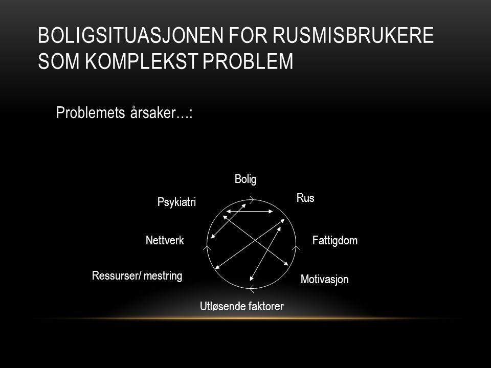 Boligsituasjonen for rusmisbrukere som komplekst problem