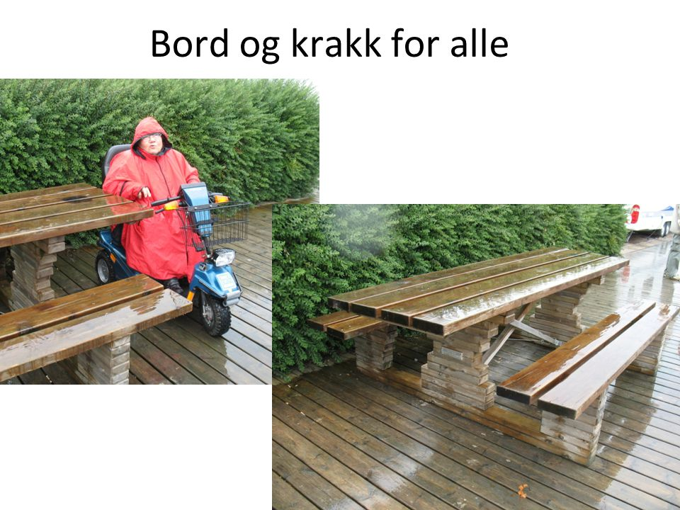 Bord og krakk for alle