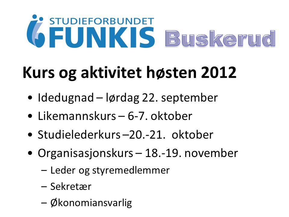Kurs og aktivitet høsten 2012