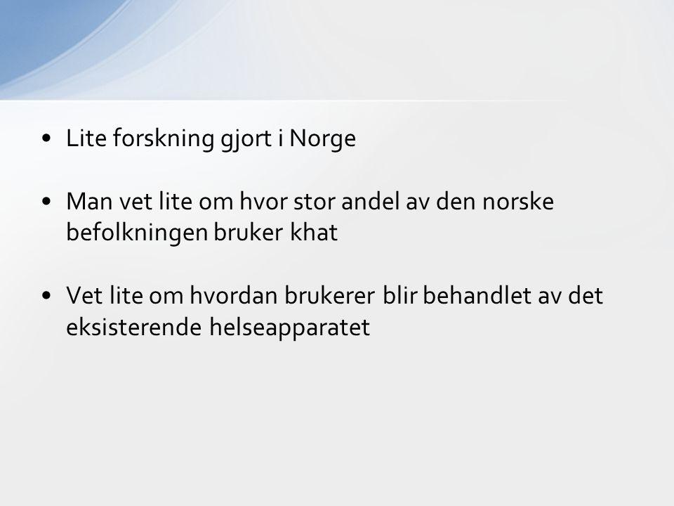 Lite forskning gjort i Norge