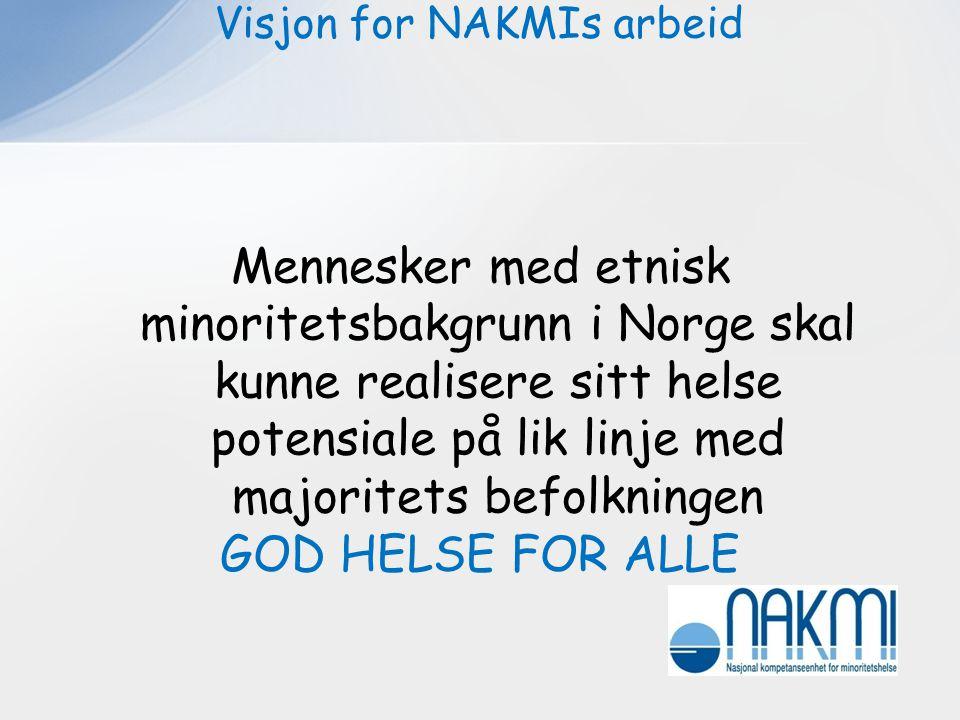. Visjon for NAKMIs arbeid