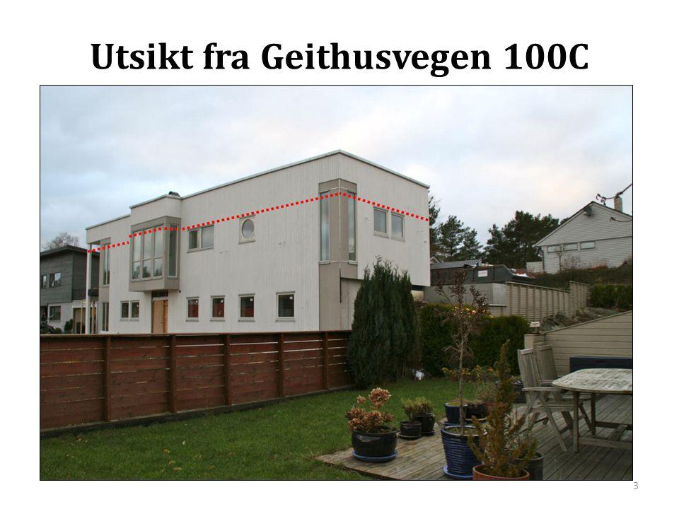 Utsikt fra Geithusvegen 100C