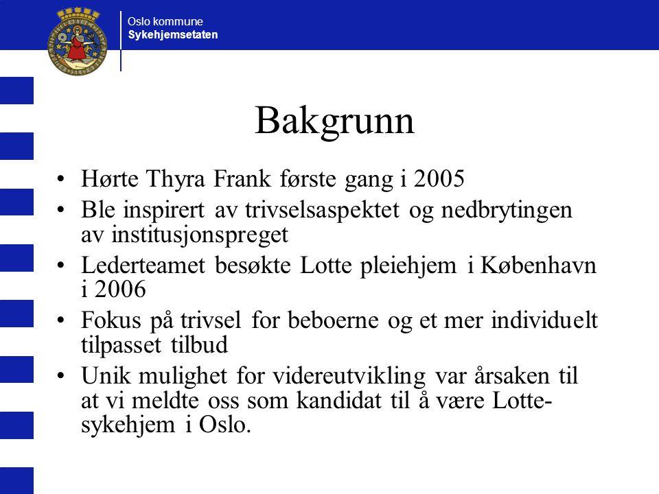 Bakgrunn Hørte Thyra Frank første gang i 2005