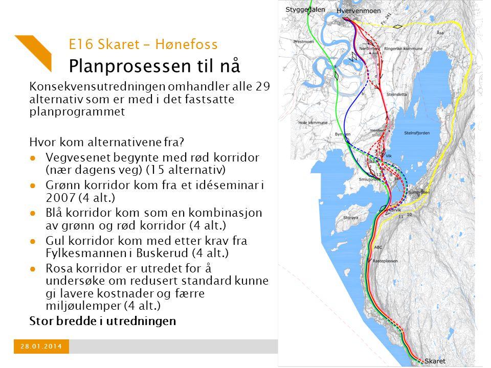 Planprosessen til nå E16 Skaret - Hønefoss