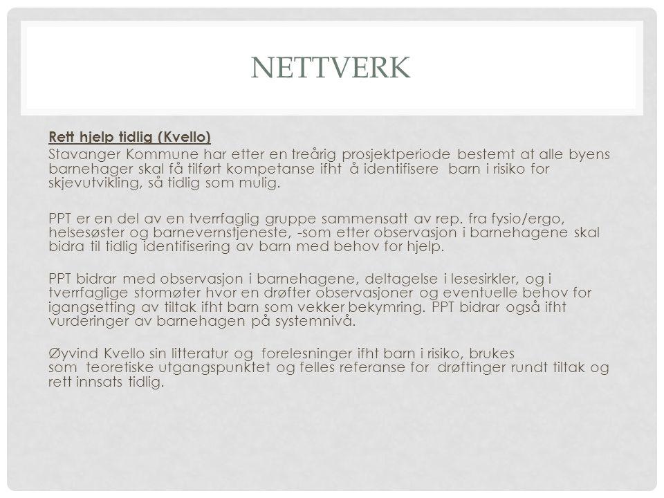 Nettverk Rett hjelp tidlig (Kvello)