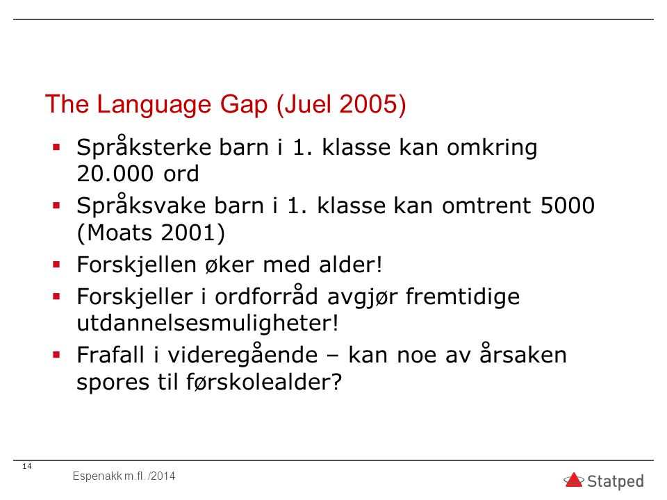 The Language Gap (Juel 2005)