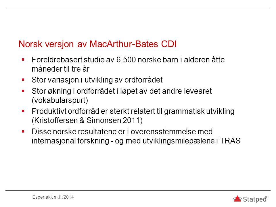 Norsk versjon av MacArthur-Bates CDI