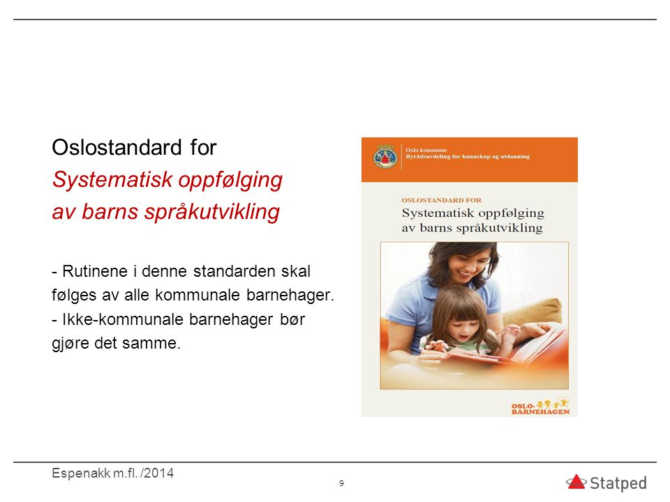Systematisk oppfølging av barns språkutvikling