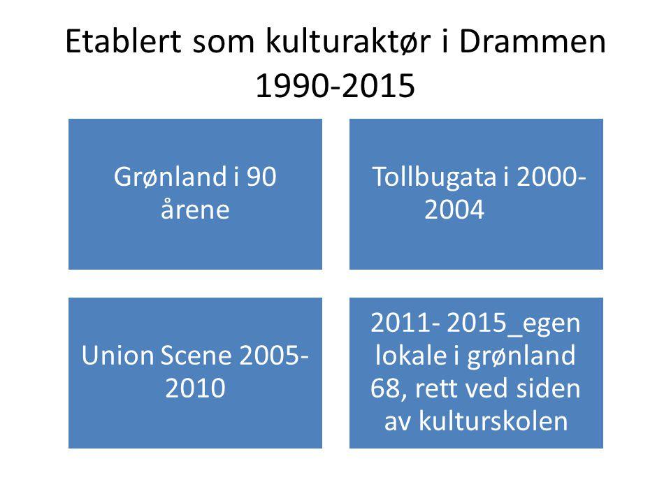 Etablert som kulturaktør i Drammen 1990-2015