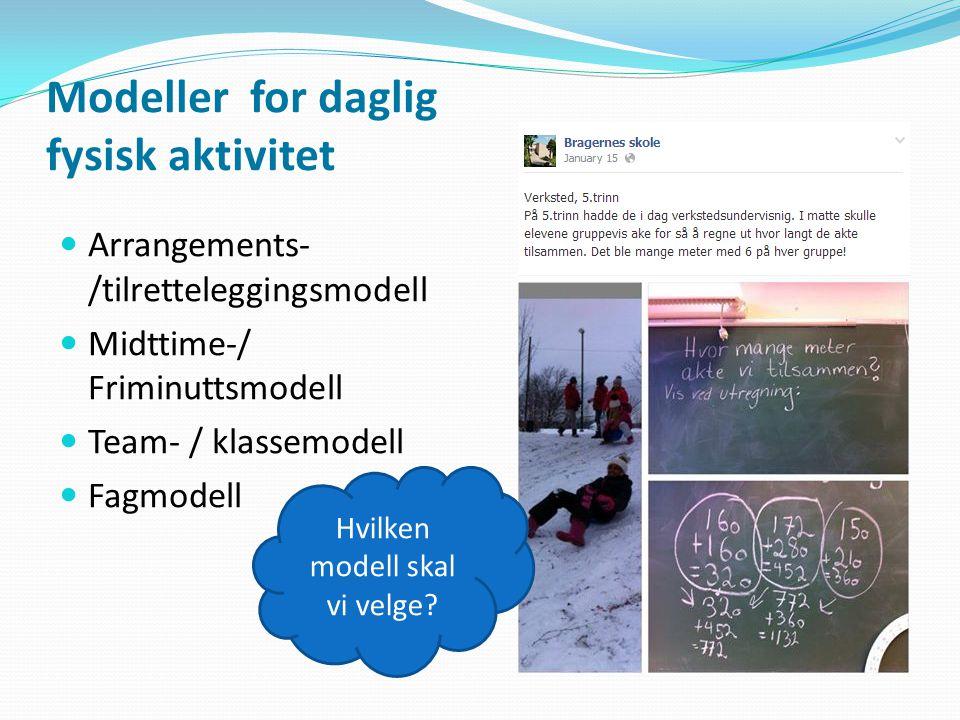 Modeller for daglig fysisk aktivitet