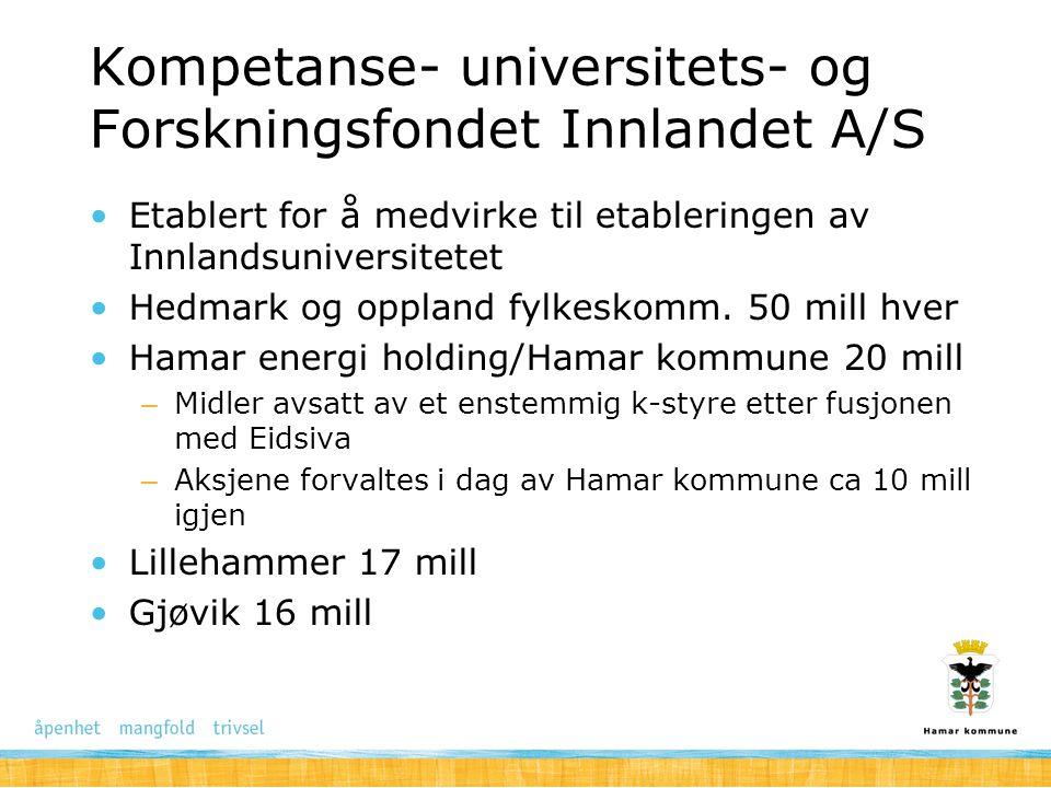 Kompetanse- universitets- og Forskningsfondet Innlandet A/S