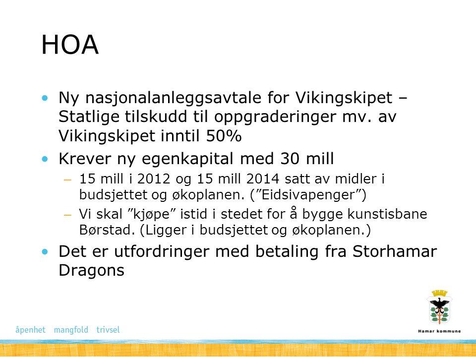 HOA Ny nasjonalanleggsavtale for Vikingskipet – Statlige tilskudd til oppgraderinger mv. av Vikingskipet inntil 50%