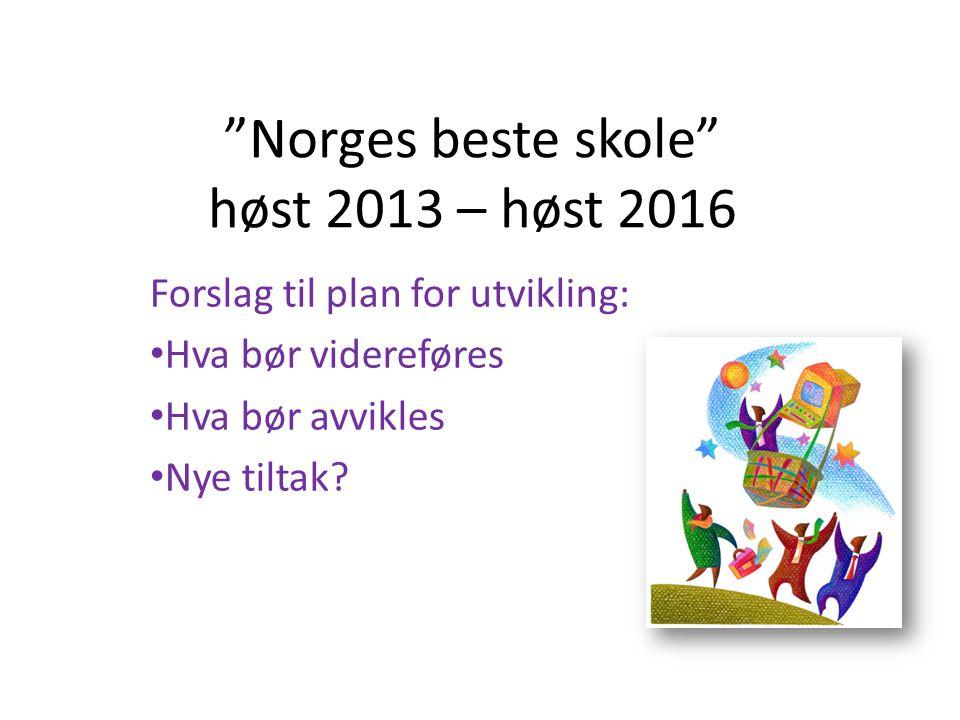 Norges beste skole høst 2013 – høst 2016