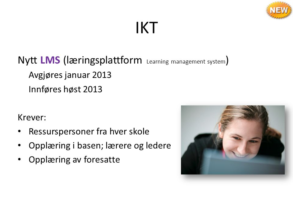 IKT Nytt LMS (læringsplattform Learning management system)