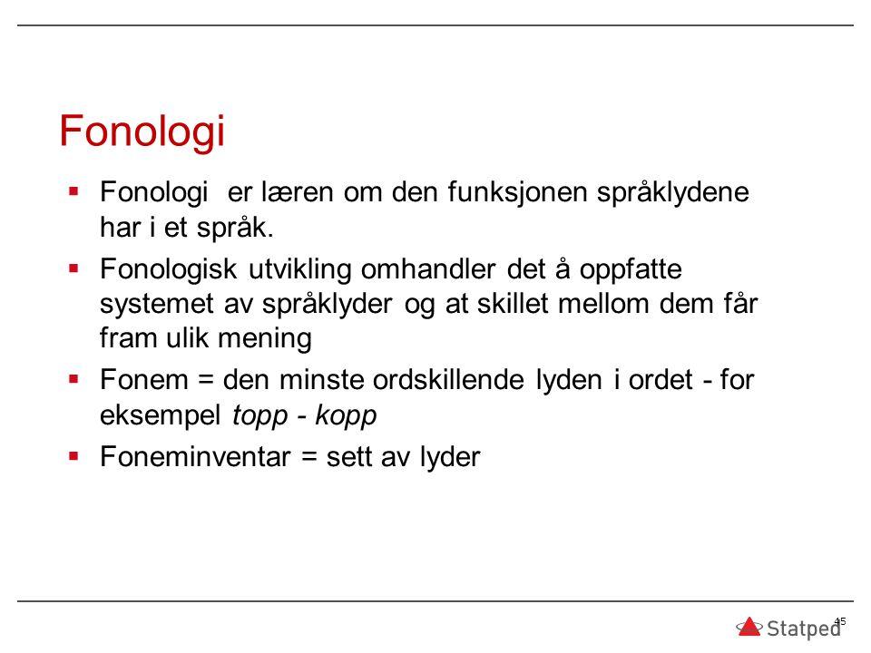 04.04.2017 Fonologi. Fonologi er læren om den funksjonen språklydene har i et språk.