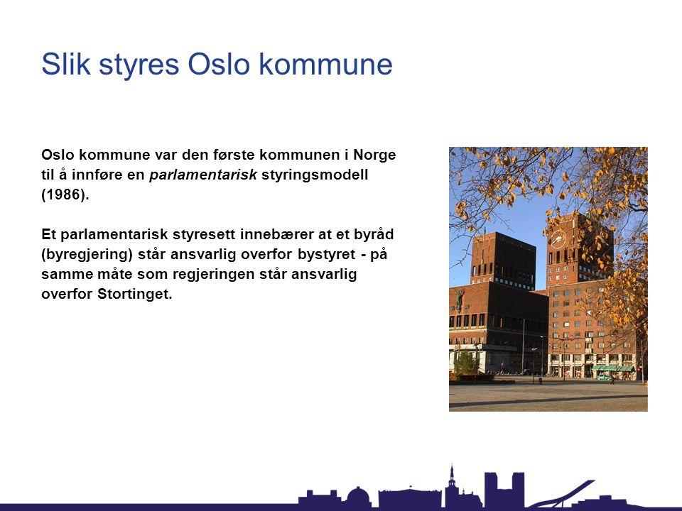 Slik styres Oslo kommune