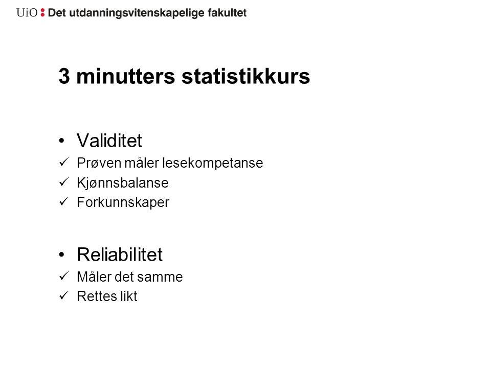 3 minutters statistikkurs