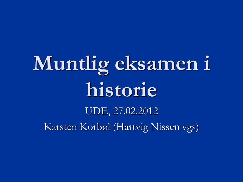 Muntlig eksamen i historie