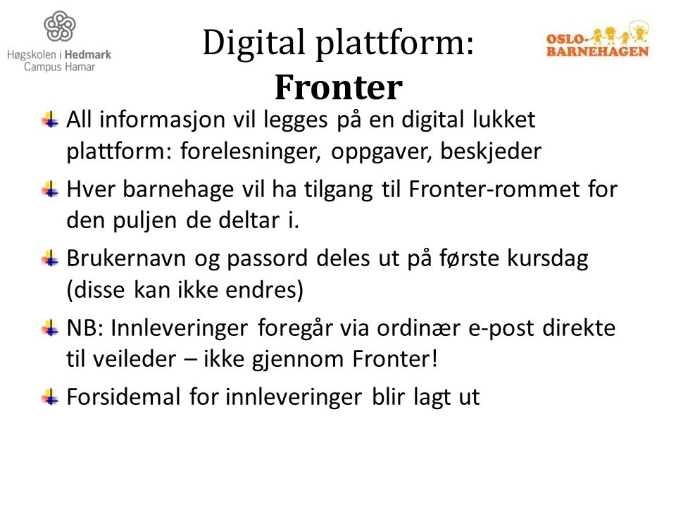 Digital plattform: Fronter