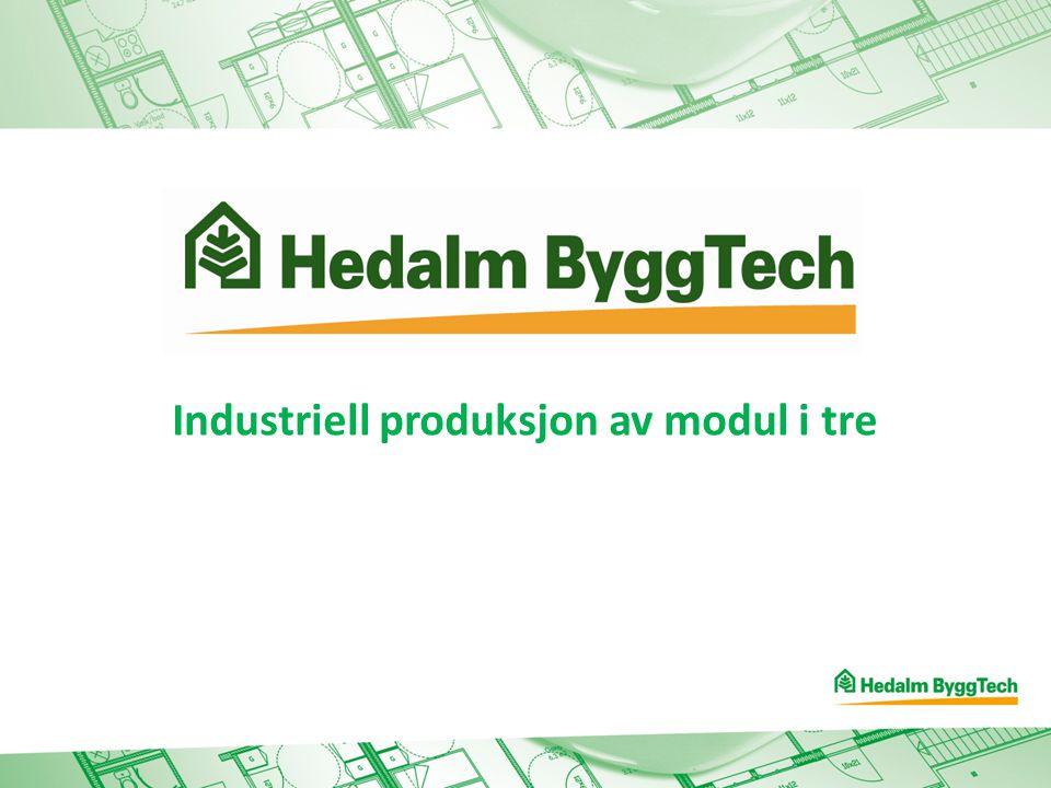 Industriell produksjon av modul i tre