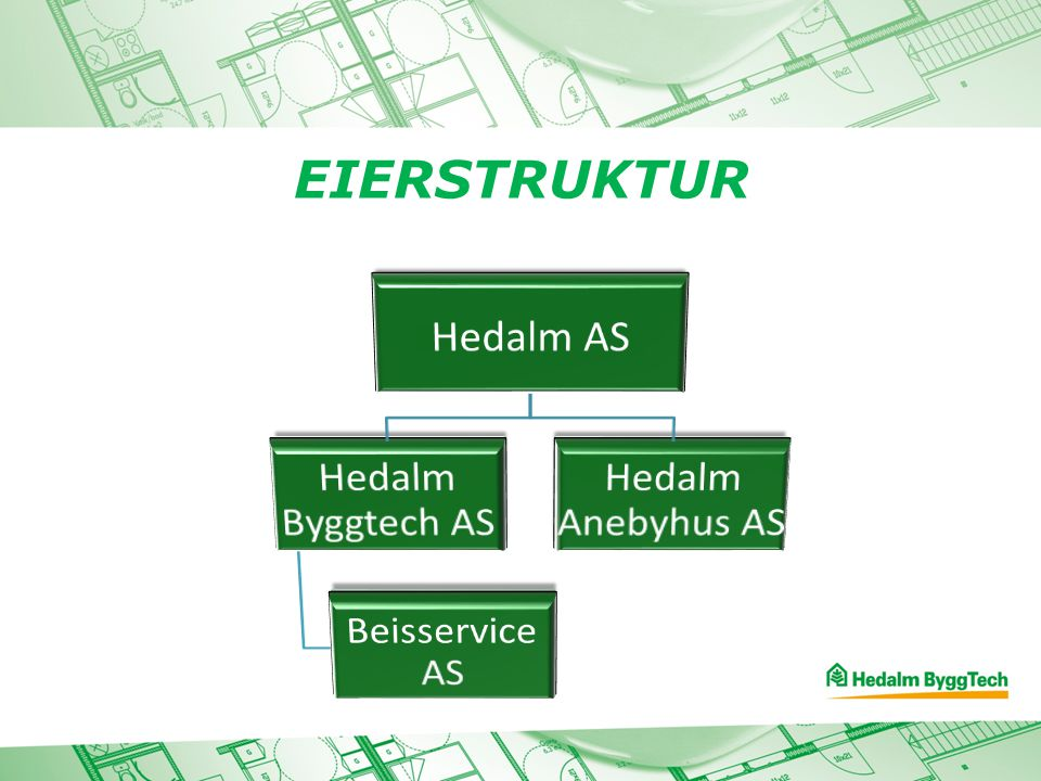 Hedalm AS Hedalm Byggtech AS Beisservice AS Hedalm Anebyhus AS