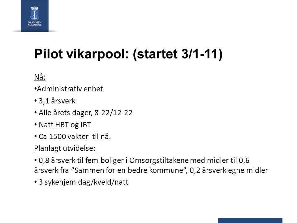 Pilot vikarpool: (startet 3/1-11)