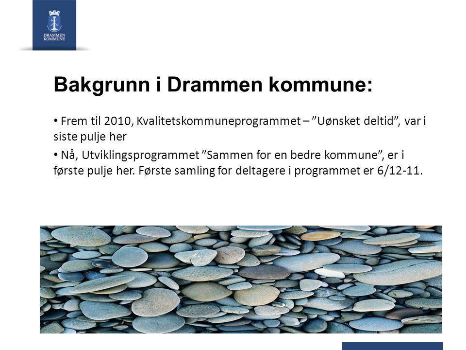 Bakgrunn i Drammen kommune: