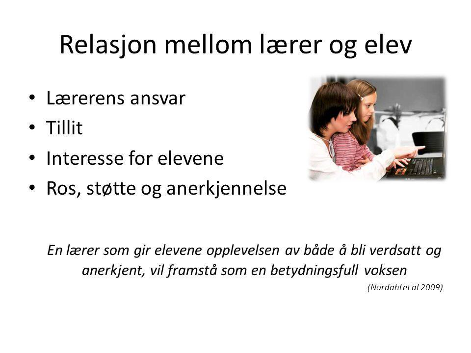 Relasjon mellom lærer og elev
