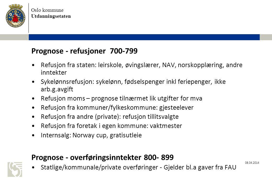 Prognose - refusjoner 700-799