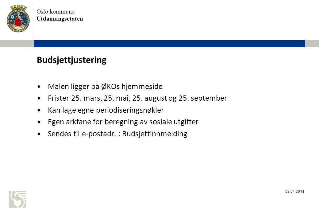 Budsjettjustering Malen ligger på ØKOs hjemmeside
